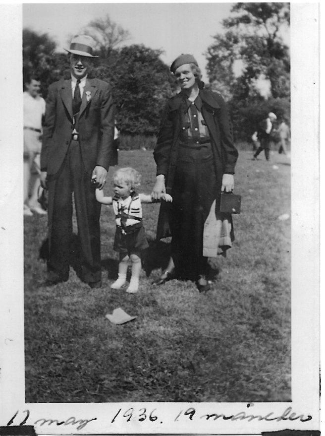 My Norwegian Grandparents & My Father/Humboldt Park, Chicago