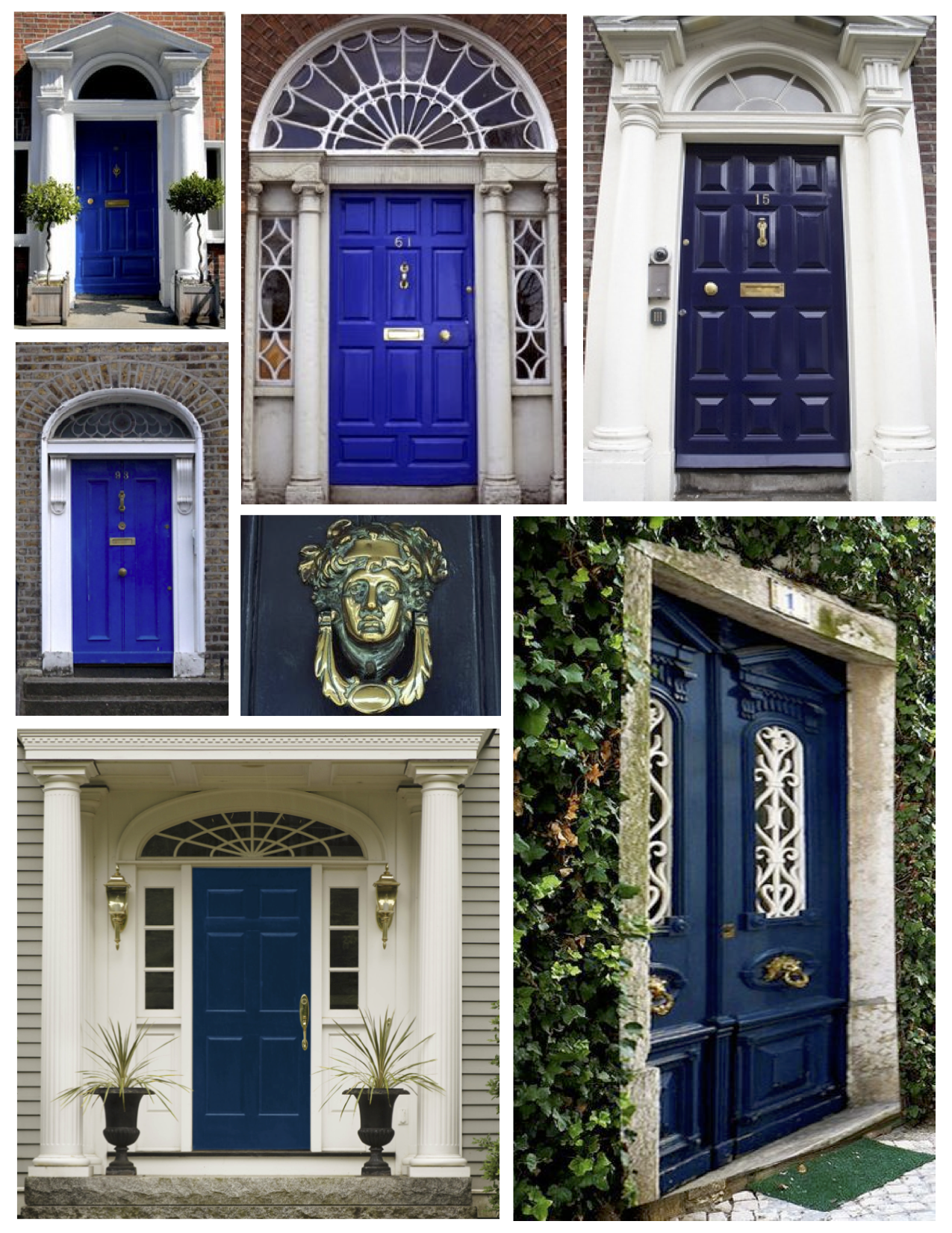Dark blue front doors -  Dramatic Regal The Painted Blue Exterior Door