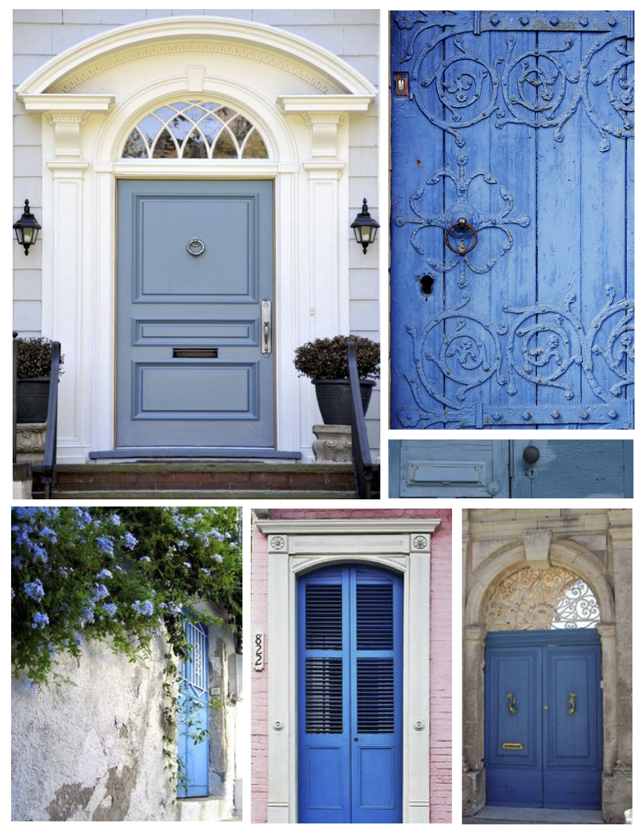 exterior color inspirations the regal brilliant painted blue door house appeal. Black Bedroom Furniture Sets. Home Design Ideas