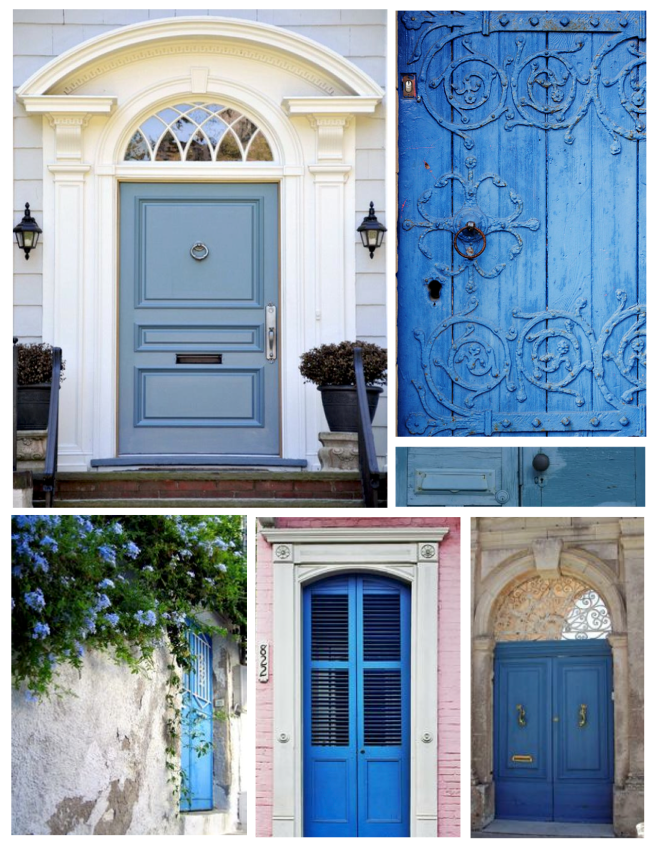 Various Styles Painted  Blue:  Exterior Doors Of Distinction