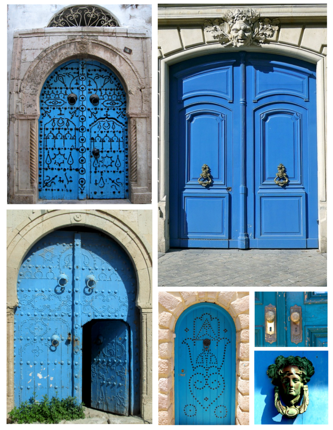 Brilliant Delight:  The Exterior Door In Painted Blue Hues