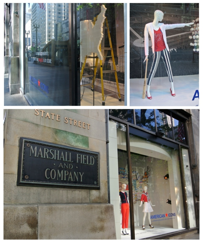 "Iconic Windows Of Changing Fashion:  State Street's ""Marshall Fields"" (Macy's)"