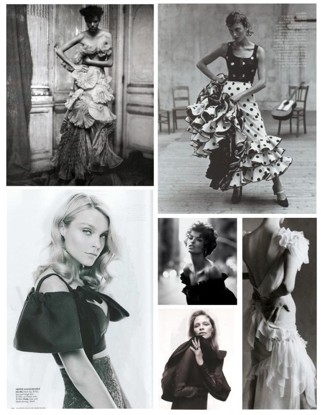 Fashion's Elegant Ruffles:  Layers Of  Fancy Frills