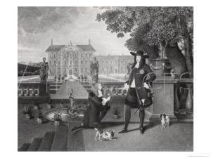 King Charles II of England Receiving A Gift Of A Pineapple