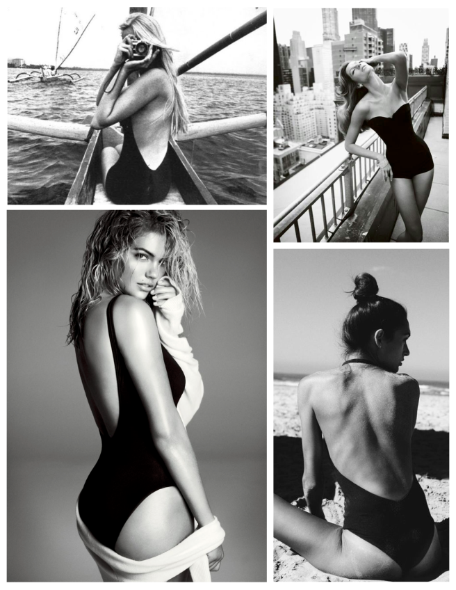 Timeless In Basic Black:  The Black Swimsuit