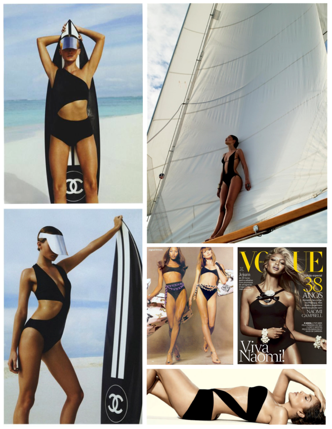 Fashion's Changing Interpretations Of Timeless Appeal:  The Black Swimsuit
