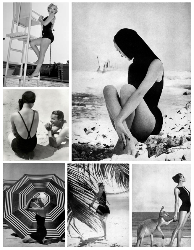 Vintage Appeal:  The Timeless Black Swimsuit In Fashion's past