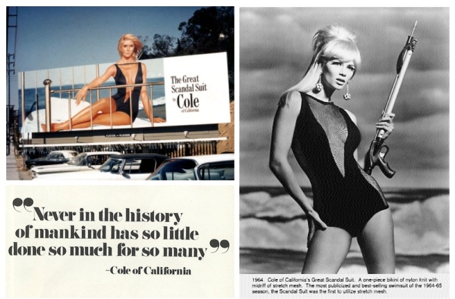 """Vintage"" Cole:  The ""Scandal""  Black Swim Suit"