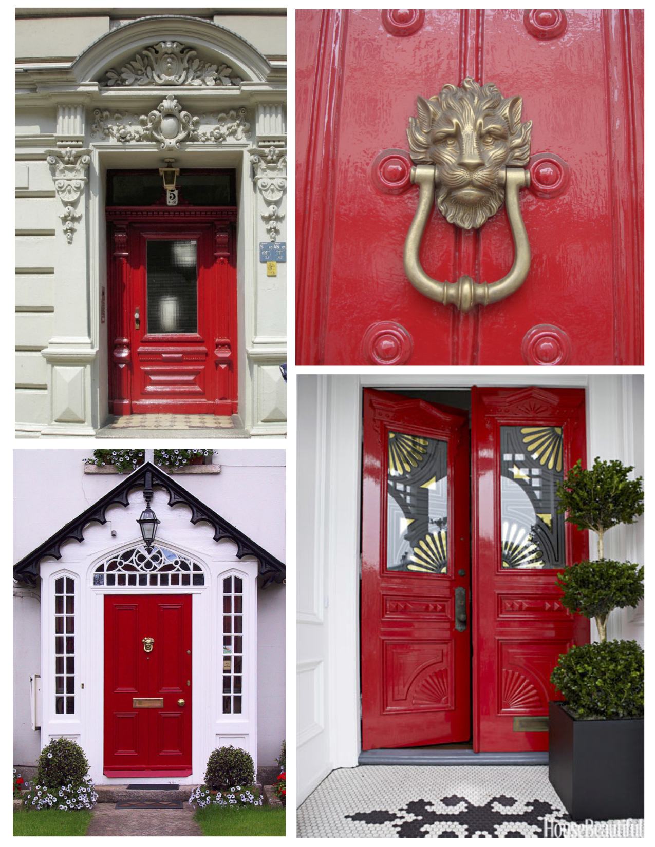 The Brilliant Red Painted Exterior Door: Impact In Bold Color