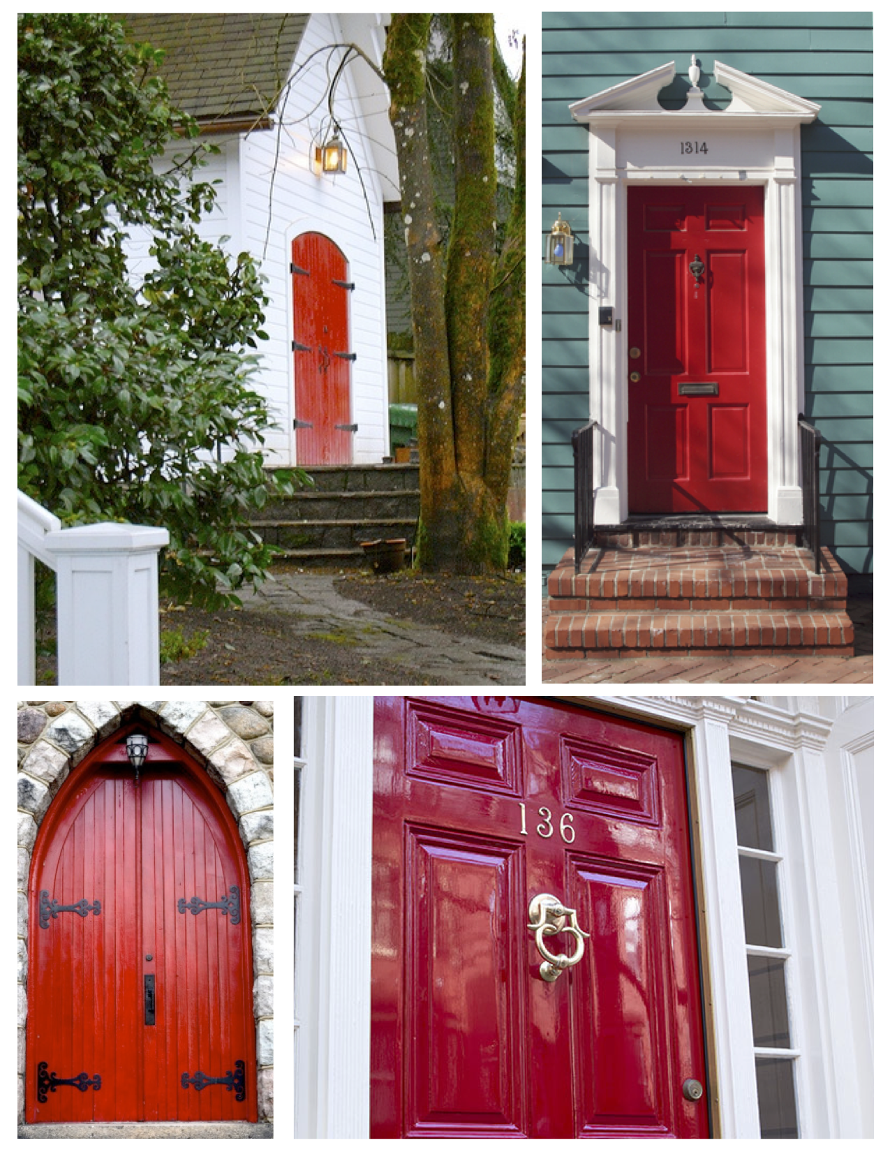 ... Striking Impact: The Painted Red Exterior Door