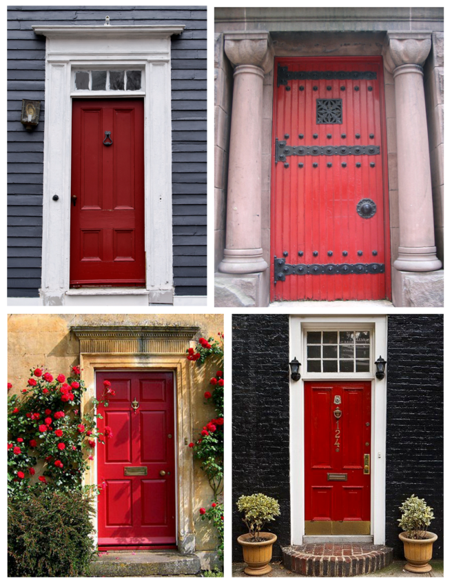 The Brilliant Red Hued Painted Door