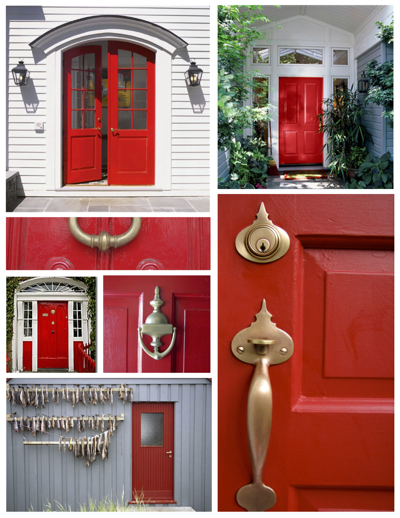 ... Maximum Impact: Curb Appeal With The Brilliant Red Painted Door