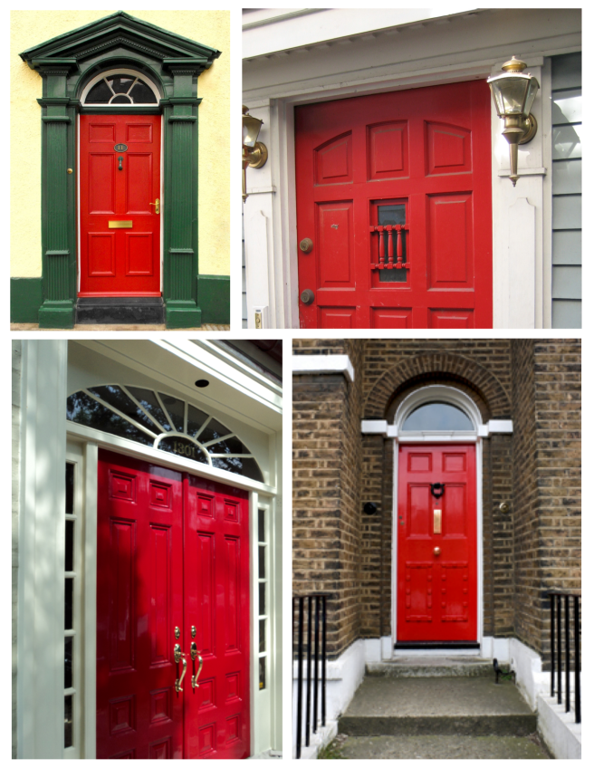 Deep Hue Of Impact:  The Vibrant Painted Red Door