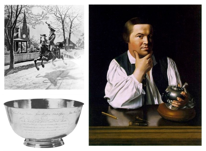 Paul Revere (1735-1818) American Silversmith, Engraver, Early Industrialist & Patriot In The American Revolution
