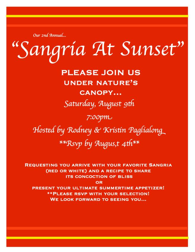 """""""Sangria at Sunset"""""""