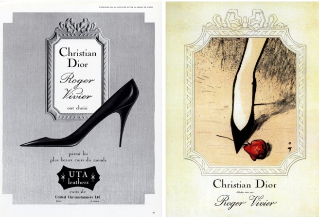 French Designers Christian Dior & Roger Vivier