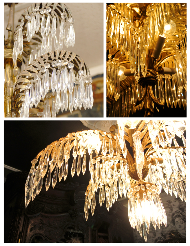 "Glamour & Elegance Of French Distinction:  The ""Palm Frond"" Chandelier"