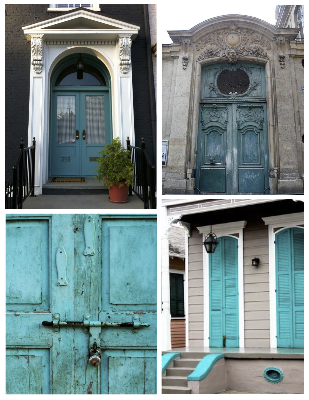 Refreshing Delight: Tranquil Turquoise Coating The Exterior Entry