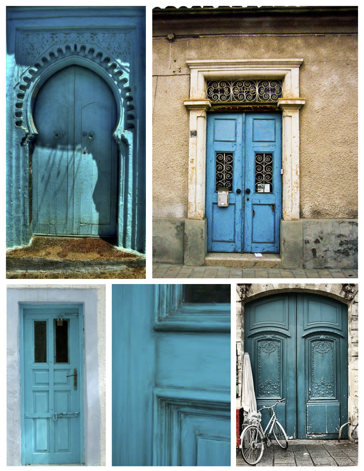 ... Turquoise Exterior Door: Striking Energy Of Vivid, Fresh Appeal