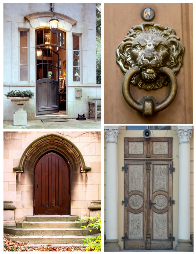 Natural Focal Points:  Exterior Doors Layered In Hues Of Brown