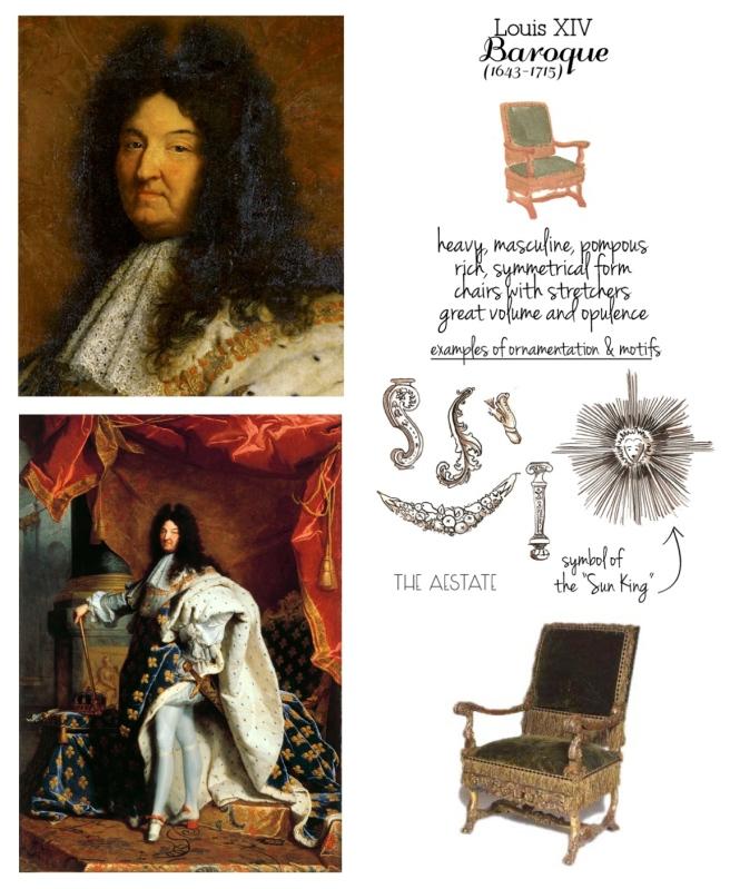 """Louis XIV (1643-1715): The  Baroque """"Louis: Chair"""