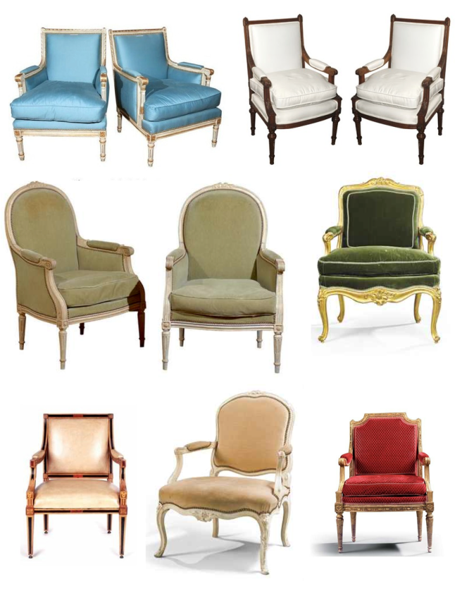 "Royal variations Of The ""Louis"" Chair"