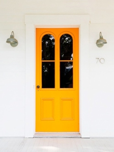 The Striking Orange Door