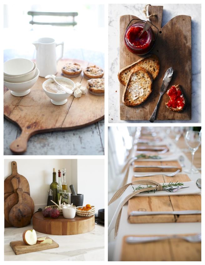 "Function & Decoration:  The ""Cutting Board"" & ""Bread Board"""