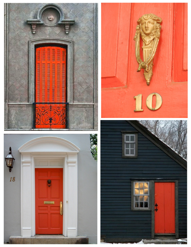 Vibrant Delight: Orange Hued Exterior Delight