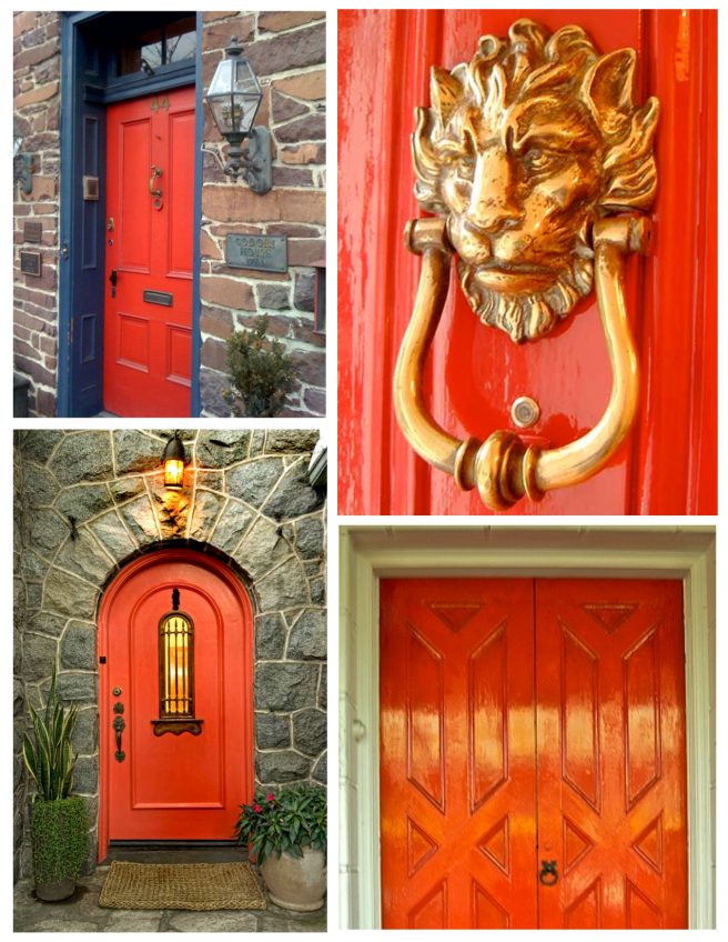 The Deep Orange-Red Door:  A Statement Of Bold Impact