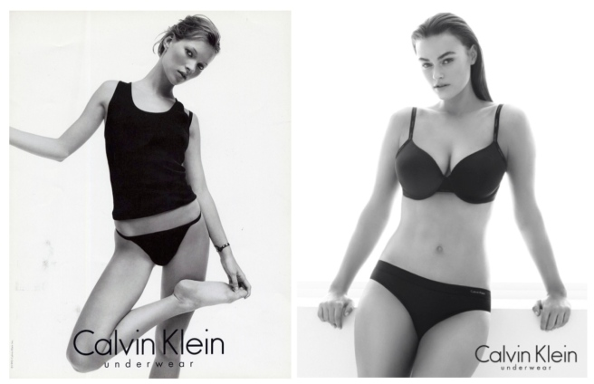 Calvin Klein Underwear:  Evolving Appreciation Of Female Beauty/Kate Moss & Myla Dalbesio