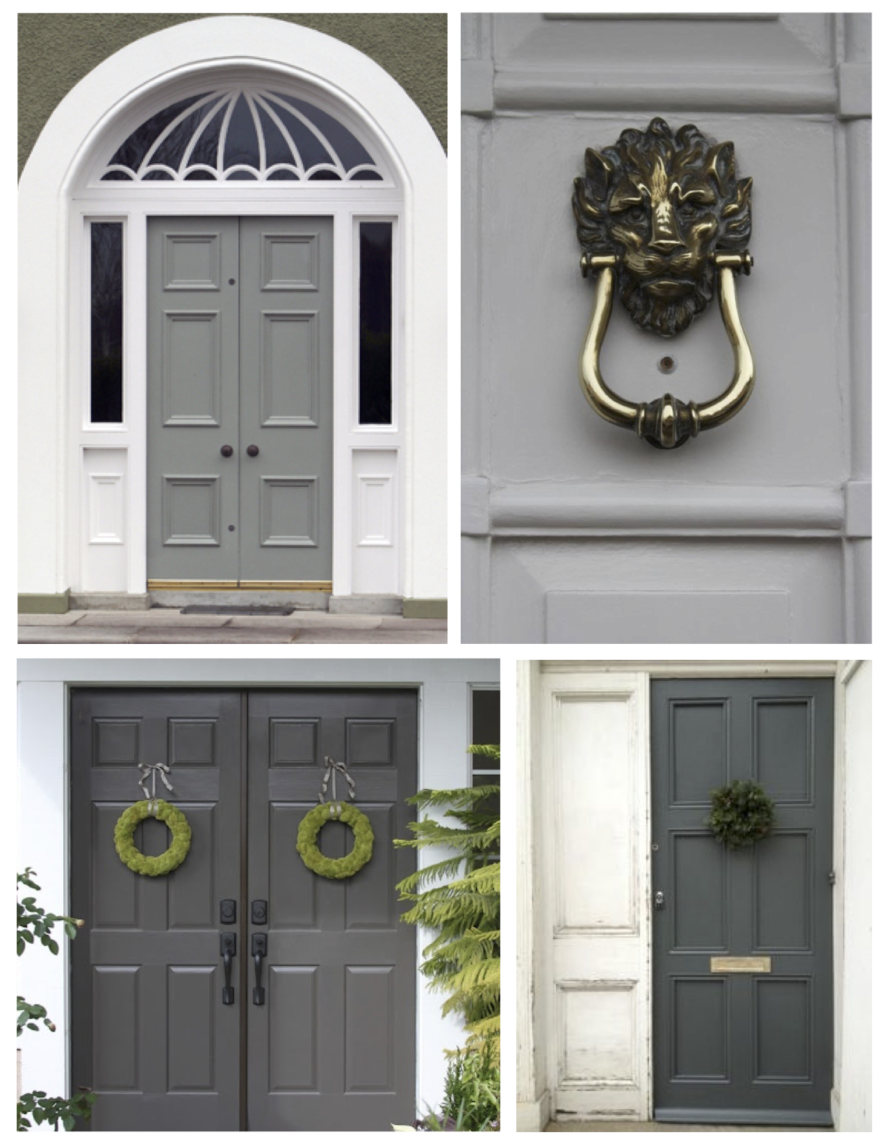 Grey front door paint ten best front door colours for Gray front door meaning