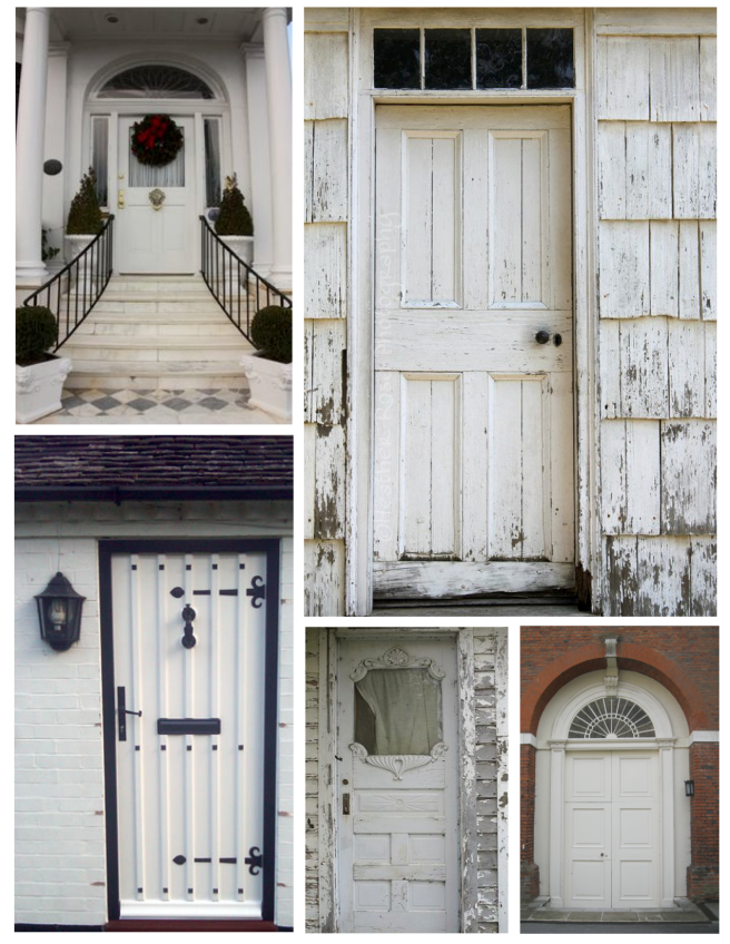 Bright White:  The Classic Coat Of White On The Exterior Front Door