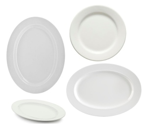 White Platters: The Perfect Background For Culinary Delights
