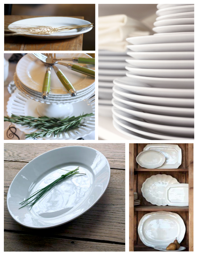 Foundations Of Entertaining:  White Platters