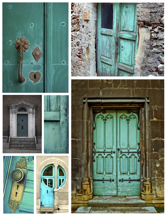 "Aug: The Tranquil ""Turqouise""  Door"