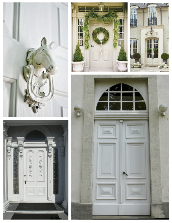"December:  The Classic & Pure ""White"" Painted Door"