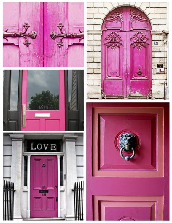 """February:  The """"Pink"""" Door"""