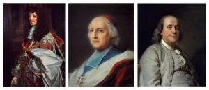 England's Prince Rupert, France's Cardinal Polignac & America's Benajamin Franklin