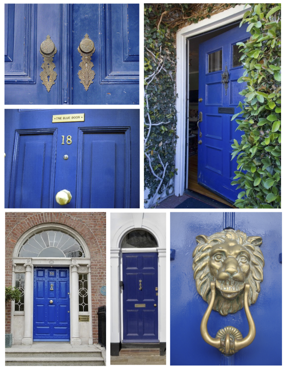 "June:  The Brilliant ""Blue"" Painted Door"