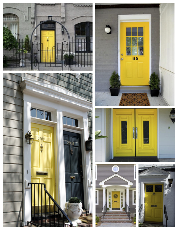 "May: The Bright ""Yellow"" Painted Door"