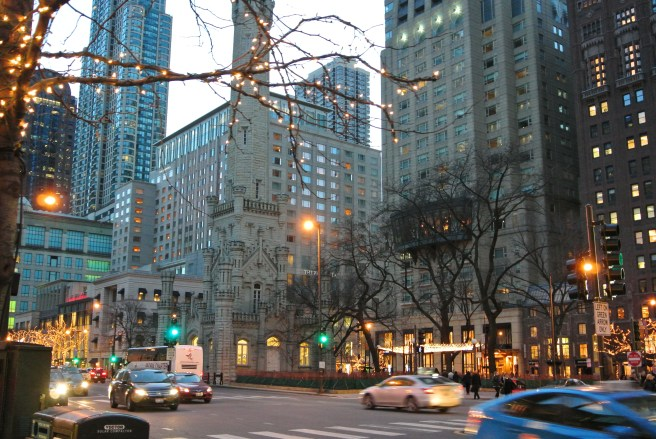 "The ""Magnificent Mile"":  Chicago's Michigan Avenue In December, 2014"