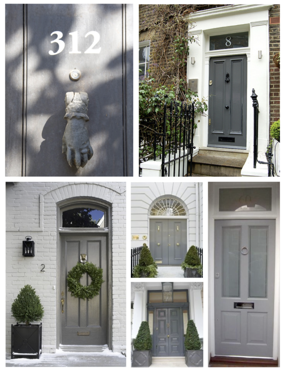 "November: The Understated ""Gray"" Exterior Door"