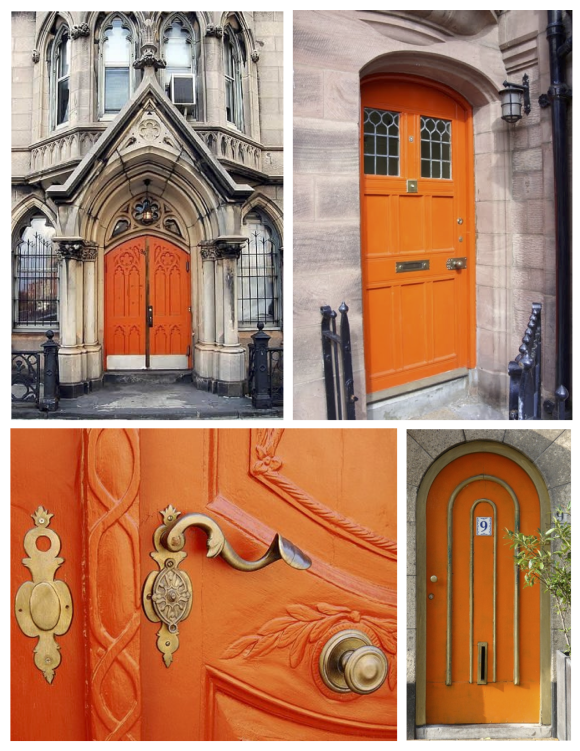 "October: The Unexpected & Brilliant ""Orange"" Painted Door"