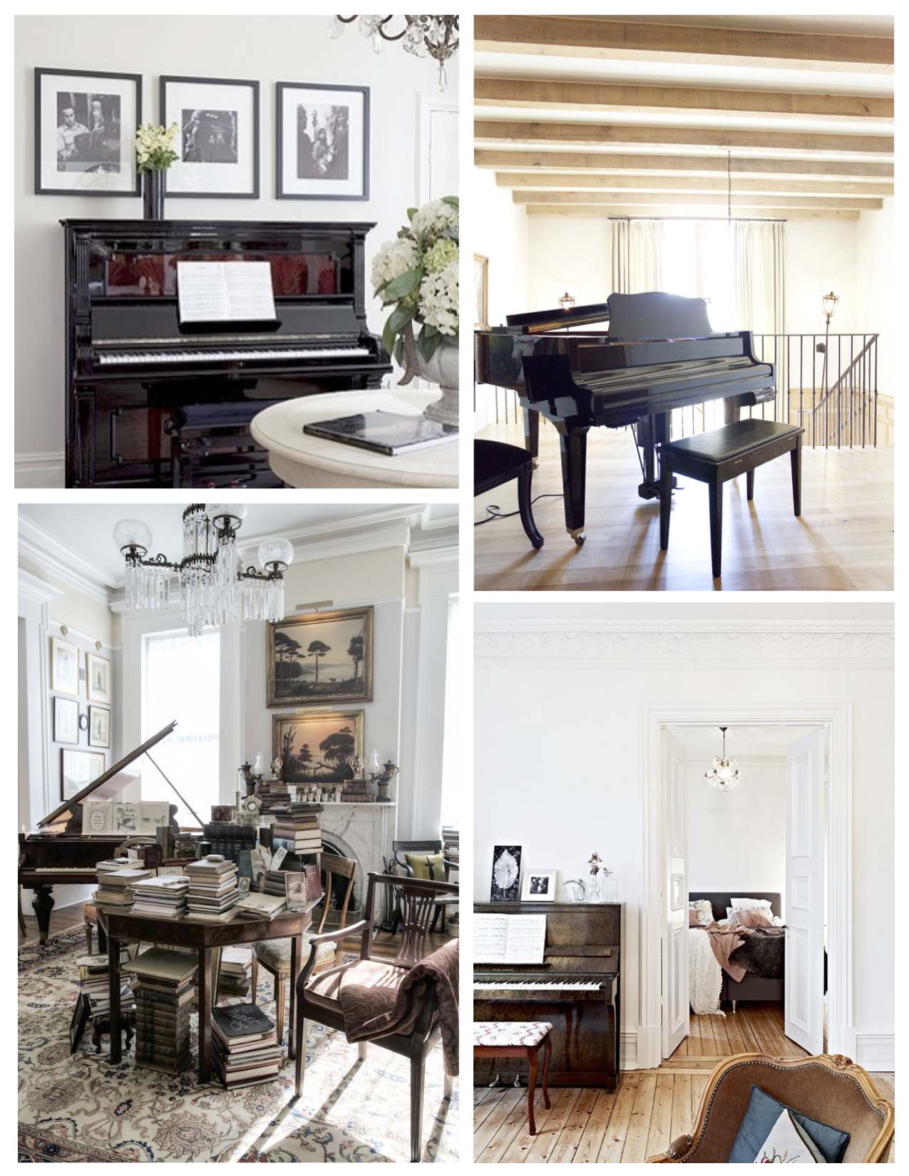 Interior grace contrast the melodic appeal of pianos