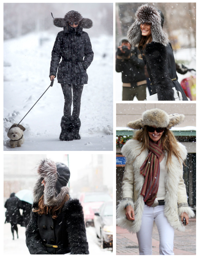 "Outdoor Delights Under Layers Of Fur:  The ""Trapper"" Hat"