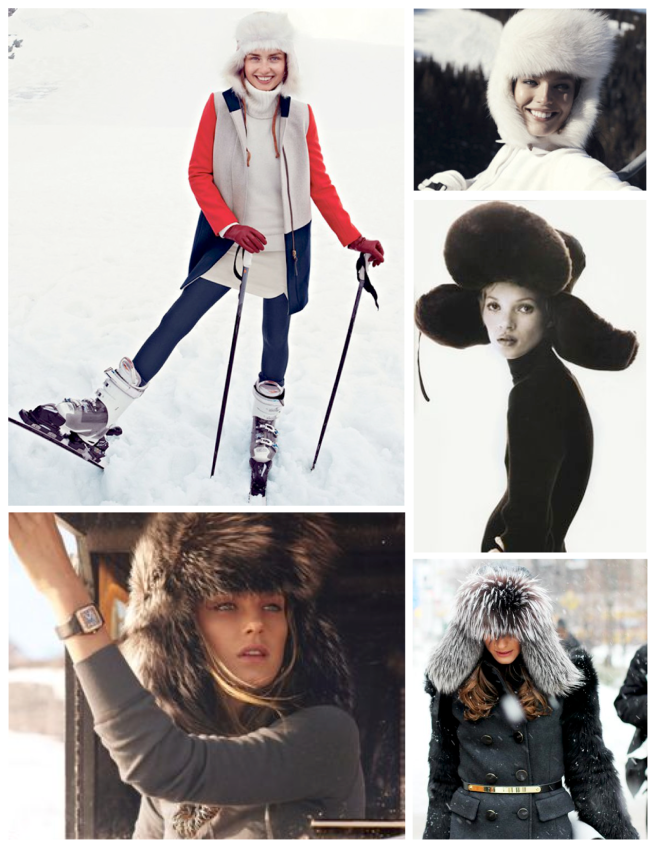 "Winter's Protection: The Stylish Fur ""Trapper"" Hat"