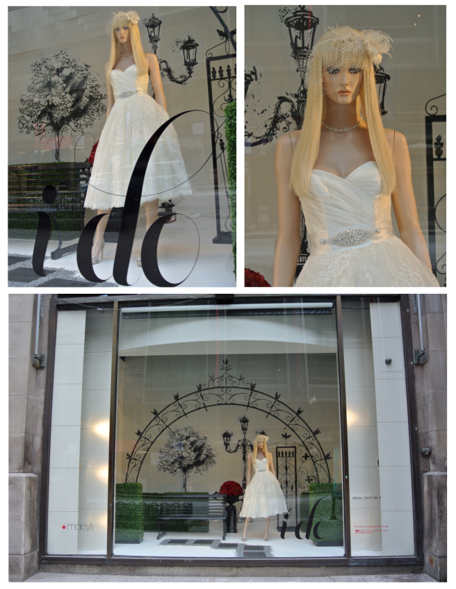 Wedded Visual Delight Behind The Windows Of Macy's/State Street