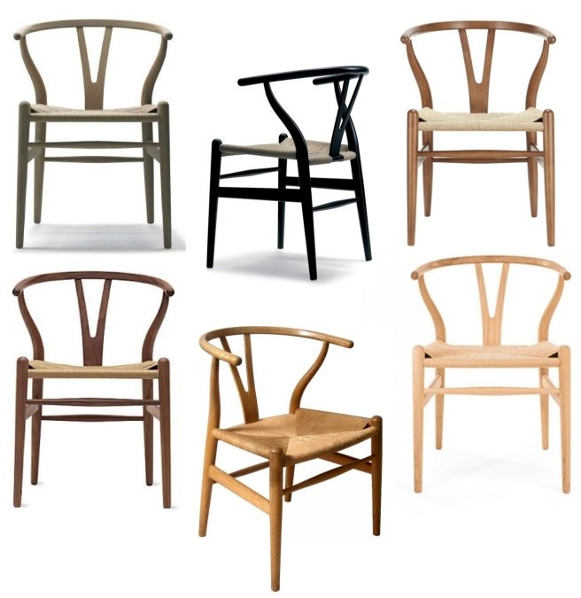 """A Design Classic In  Form & Function:  Shape, Simplicity & Clean Lines Of Hans Wegner's 1950's  """"Wishbone Chair"""""""