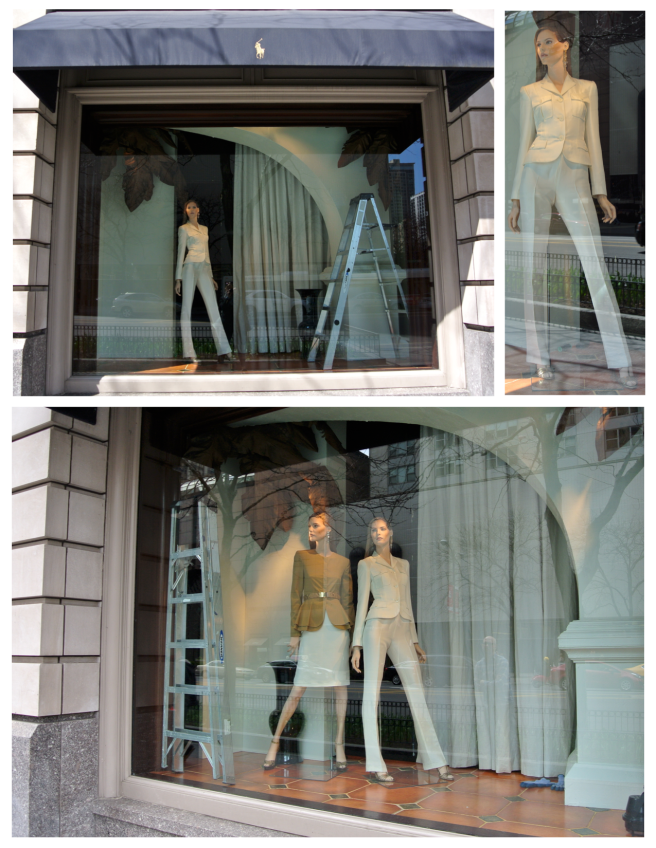 Mannequin Changes Behind The Windows Of Ralph Lauren/Michigan Avenue